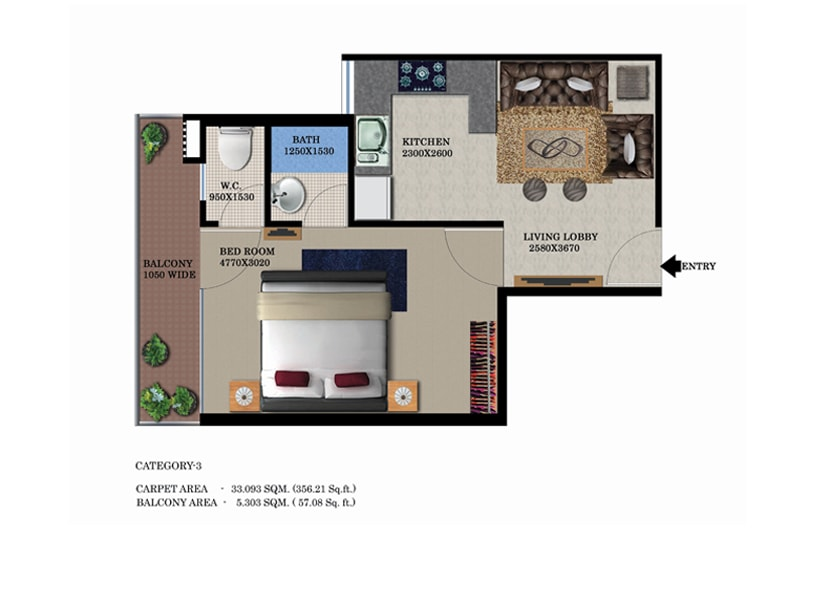 Global Heights Floor Plans Option 2